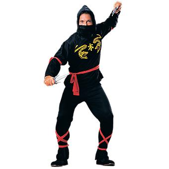 Mens Ninja Warrior Samurai Japan Film Fancy Dress kostuum