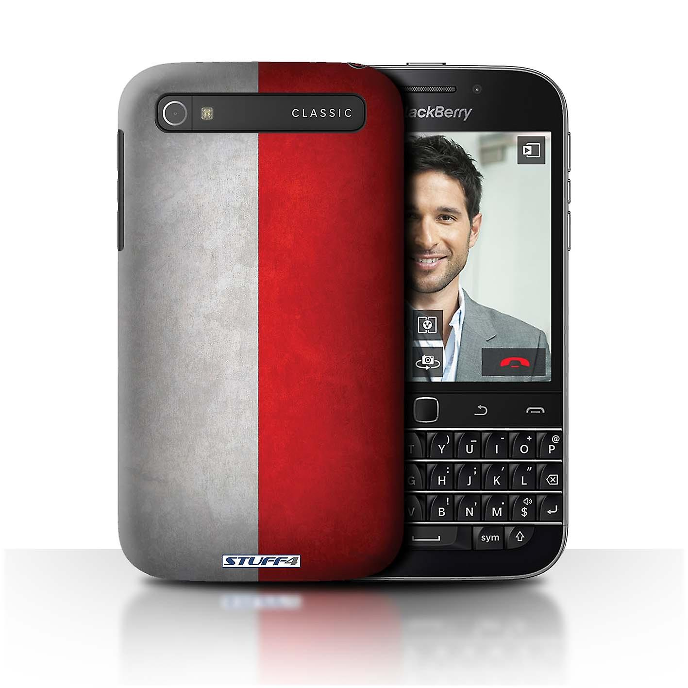 STUFF4 Case/Cover for Blackberry Classic/Q20/Poland/Polish/Flags