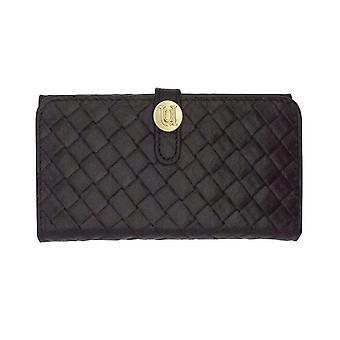 iPhone 6/6s Plus Case - 5.5 Inch Luxe Exotic Folio Wallet Weave Black