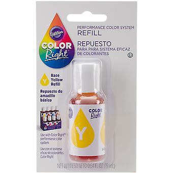 Color Right Food Color System Refill .7oz-Yellow CR610-952