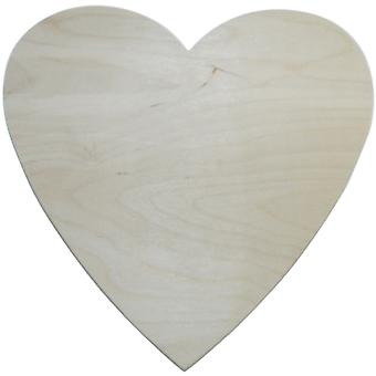 Unfinished Wood Baltic Birch Plaque 1 Pkg Heart 10