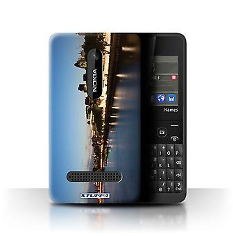 STUFF4 Case/Cover for Nokia Asha 210/River Thames/London England