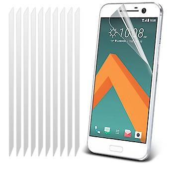 i-Tronixs HTC 10 / HTC One M10 Pack With 10 Screen Protectors With Polish Cloth -Clear