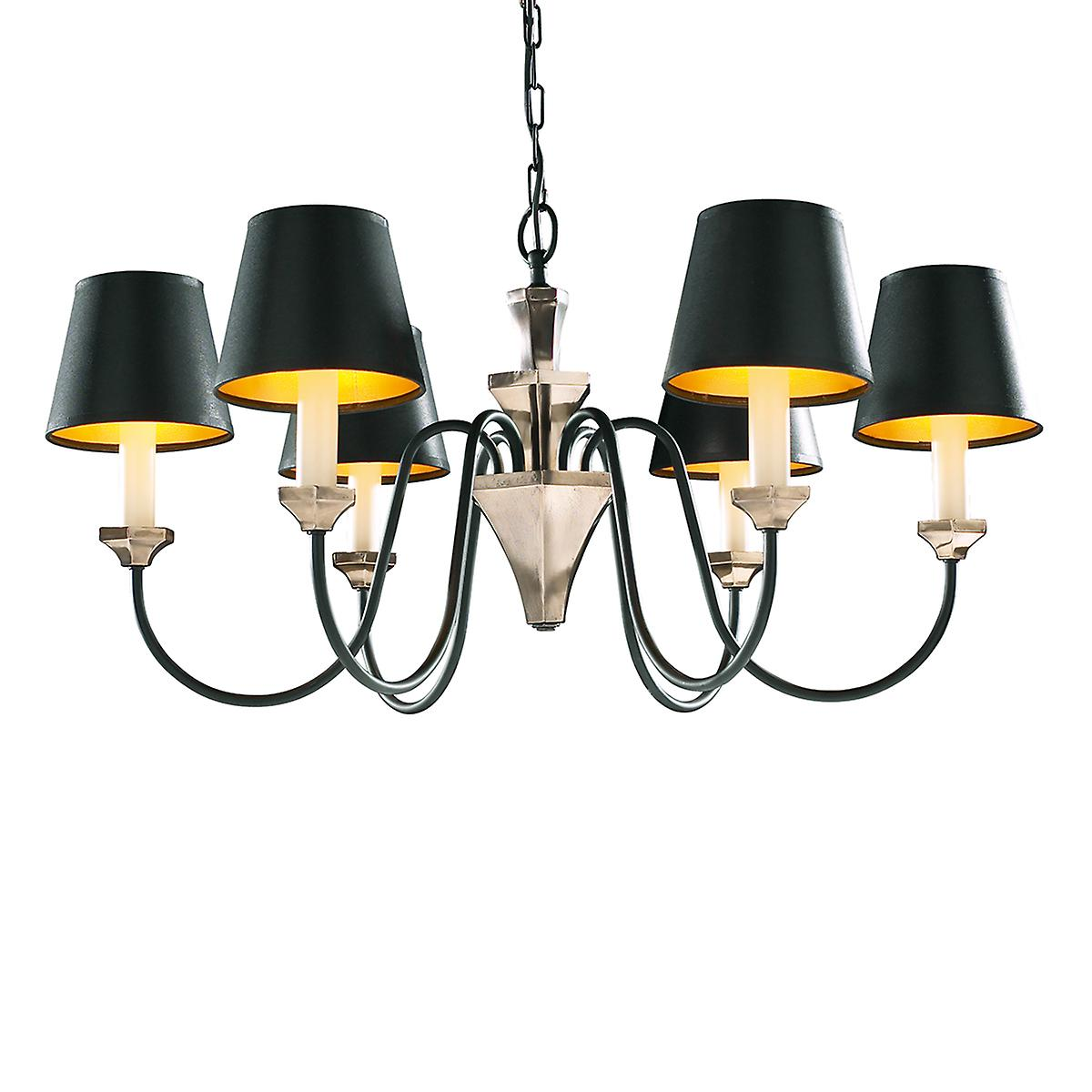 David Hunt OTH0663 Othello 6 Light Pendant In A Bronze Finish - Shades Not Included