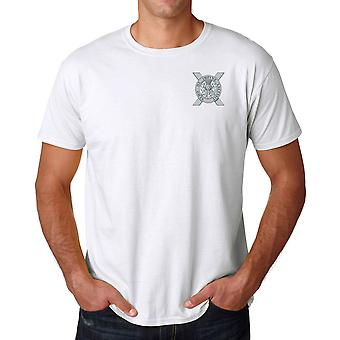 Lowland Band Of The Scottish Embroidered Logo - Official British Army MOD Ringspun Cotton T Shirt