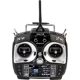 Graupner MZ-18 HoTT Handheld RC 2,4 GHz No. of channels: 9 Incl. receiver