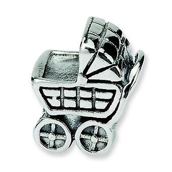 Sterlingsilber antik-Finish Reflexionen Kinderwagen Bead Charm