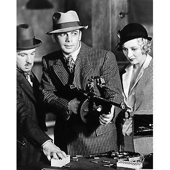 Scarface Vince Barnett Paul Muni Karen Morley 1932 fotoutskrift