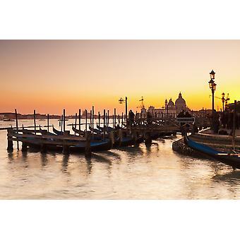 Venedig in der Abenddämmerung Venedig Italien PosterPrint