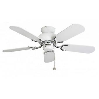 Ceiling Fan Capri White / Steel with pull cord