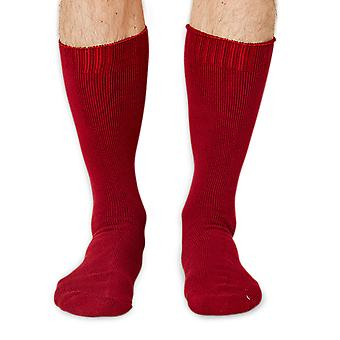 Blair-Rock men's thick bamboo boot sock in ruby | By Braintree