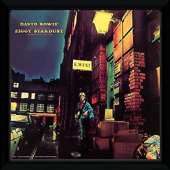 David Bowie Ziggy Stardust innrammet Album Print
