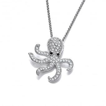 Cavendish French Silver and CZ Octopus Pendant
