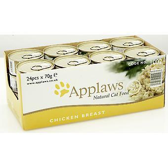 Applaws kat kan kyllingebryst 70g (Pack af 24)
