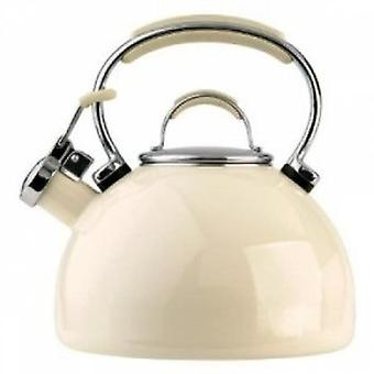 Prestige 50559 Enamel Stove Top Whistling Kettle in Almond