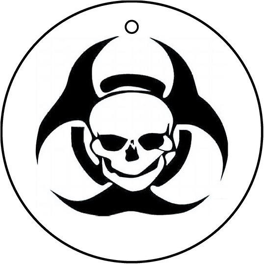 Biohazard Skull Car Air Freshener