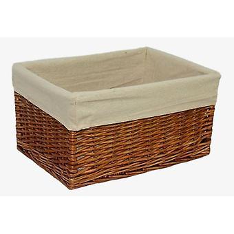 Medium Lined Double Steamed Storage Basket