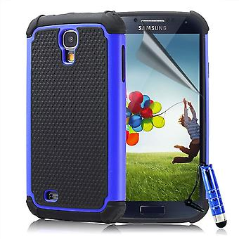 Stød bevis Case Cover til Samsung Galaxy S4 i9500 + Touch Stylus - dyb blå