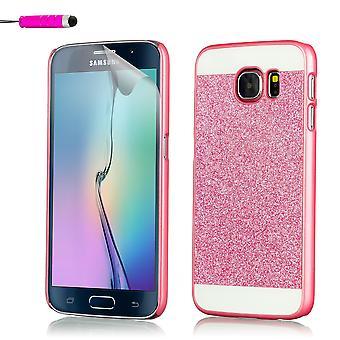 Glitter case for Samsung Galaxy S6 Edge SM-G925 - Pink