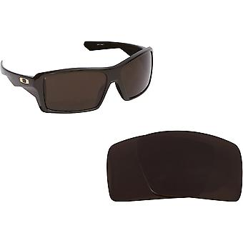New SEEK Replacement Lenses for Oakley Sunglasses EYEPATCH 1 Brown Blue Mirror