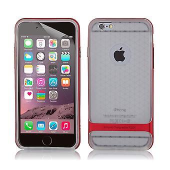 Rock Bulletproof klare gel Case + Stift für Apple iPhone 6 6 s - rot