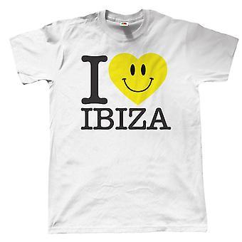 I Love Ibiza, Mens Holiday T Shirt