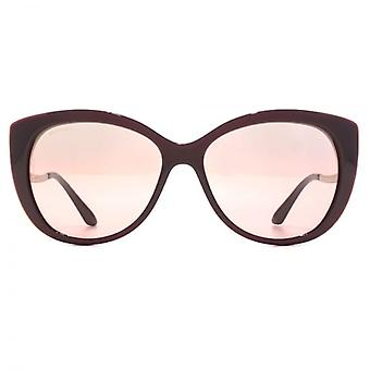 Bvlgari Edge Detail Cateye Sunglasses In Violet Raspberry