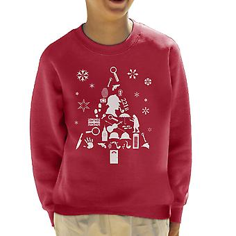 Christmas Tree Sherlock Holmes Kid's Sweatshirt
