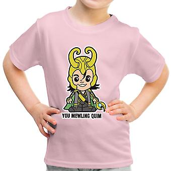 Lil Loki You Mewling Quim Kid's T-Shirt