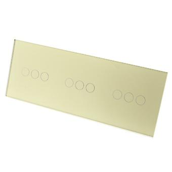 Yo LumoS lujo oro cristal Panel Touch Control LED interruptores de luz