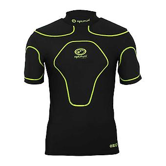 OPTIMUM origin rugby body protection top Snr [black/flouro]
