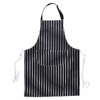 Portwest - Durable Cotton Catering Uniform Butchers Striped Apron with Pocket