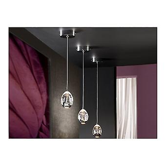 Schuller Rocio LED Glass Orb Ceiling Pendant Light With Chrome