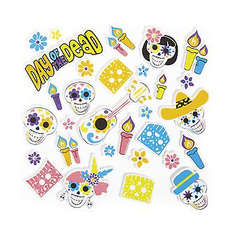 300 Budget Day of the Dead Self-Adhesive Foam Shapes for Crafts