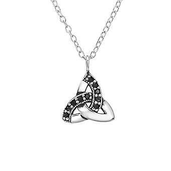 Celtic Knot - 925 Sterling Silver Jewelled Necklaces - W31612x