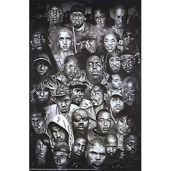 Hip Hop Legends Poster Poster Print