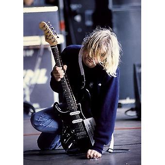 Kurt Cobain Guitar plakatutskrift plakat