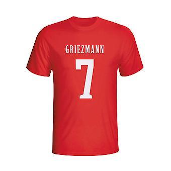 Antoine Griezmann Atletico Madrid herói t-shirt (vermelho) - crianças
