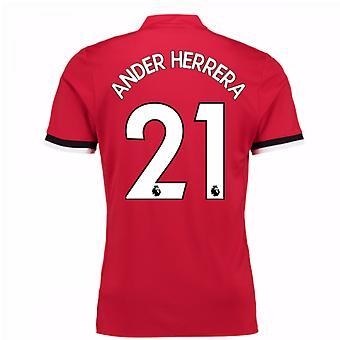 2017-2018 Man United Home Shirt (Ander Herrera 21)