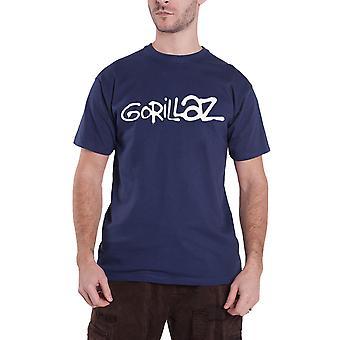 Gorillaz T Shirt Band Logo humanz new Official Mens Navy Blue