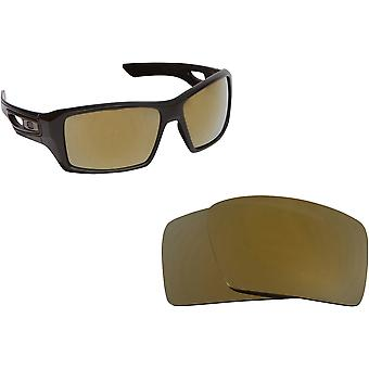 Best SEEK Polarized Replacement Lenses for Oakley EYEPATCH 2 Black Gold Mirror