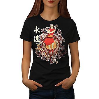 Japan Frauen BlackT-Shirt Folklore-Mode | Wellcoda