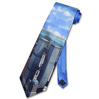 WORLD TRADE Center 100% SILK NeckTie TWIN Towers Men's Neck Tie