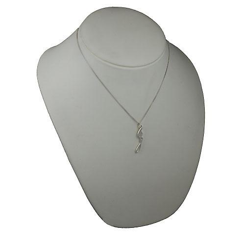 Silver 34x7mm plain Initial J Pendant with a Curb chain