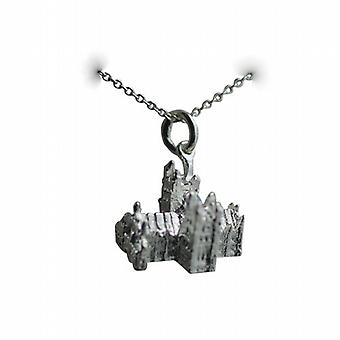 Silver 12x17mm York Minster Pendant with a rolo Chain 14 inches Only Suitable for Children