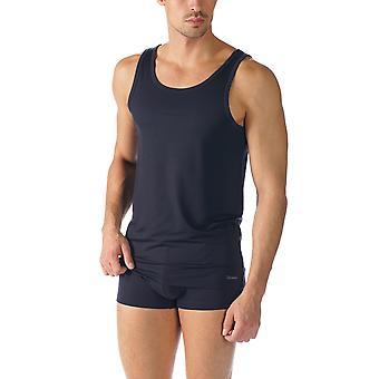 Mey 34200 Men's Network Marine Blue Cotton Tank Vest Top