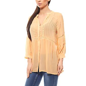 B.C.. best connections by heine ladies Orange embroidery blouse