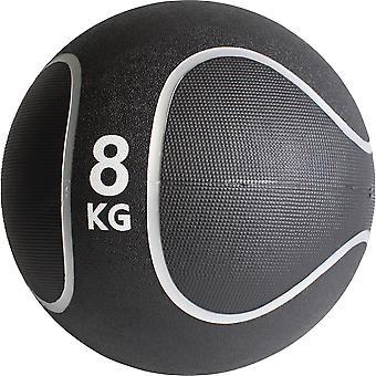 Medizinball Schwarz/Silber 8 KG