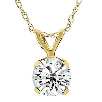 3 / 4ct diamant Solitaire vedhæng 14K gul guld