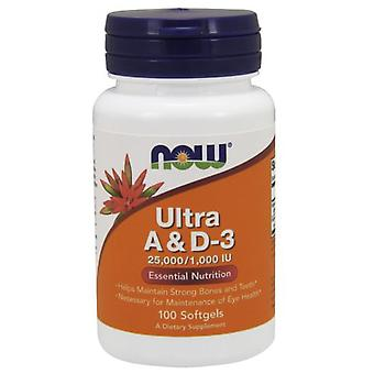 Now Foods Ultra A & D3 25000/1000 IU 100 soft capsules